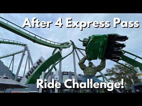 How Many Rides Can I Do? Universal Orlando Express Pass Challenge