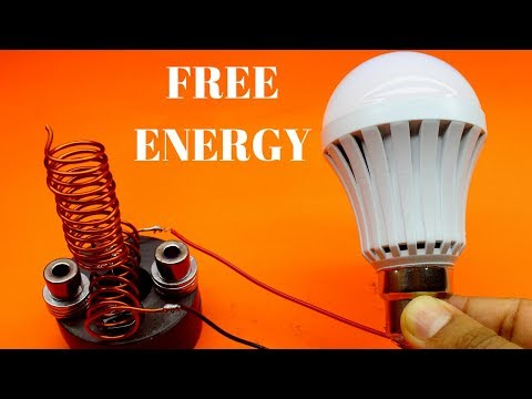 100% Free Energy Light Bulbs Device - Free Energy 230v Light Bulbs - Using Magnet With Copper Wire