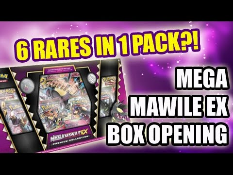 6 RARES FROM 1 BOOSTER PACK?! | Mega Mawile EX Premium Collection Box Opening!