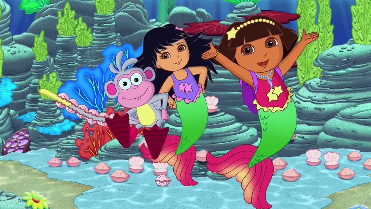 Dora Saves The Mermaids Dora The Explorer Game Play Youtube