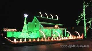 Jingle Bell Rock - Bobby Helms - Lights For Riley 2012 Christmas Light Display