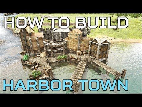 🦄Harbor Town HOW TO BUILD Ragnarok | Ark Survival [NO MODS]