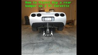 How to Plasti Dip C5 Corvette Rear Bumper