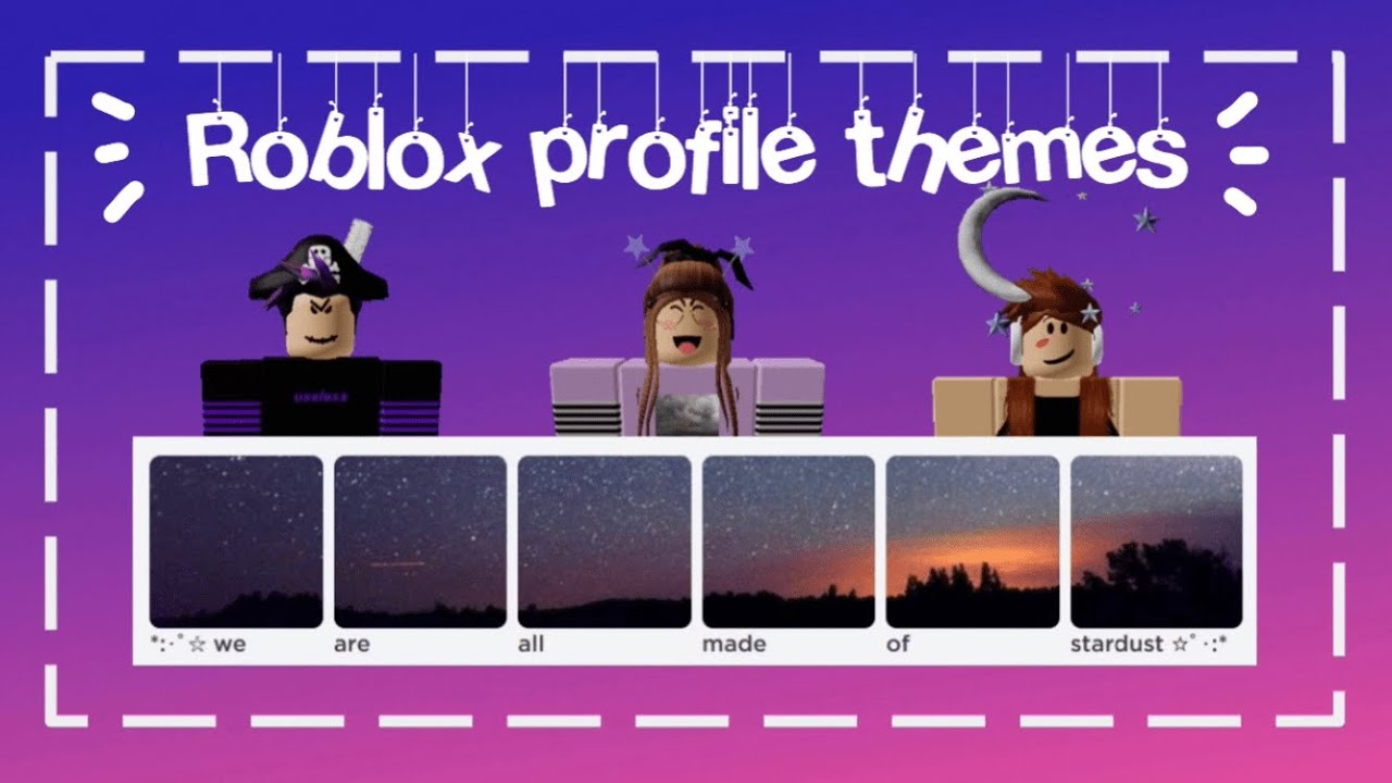 Making Roblox Look Cool With Custom Themes Youtube How To Make Roblox Profile Themes 2020 Youtube