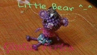 diy tutorial little bear animal beaded 3d