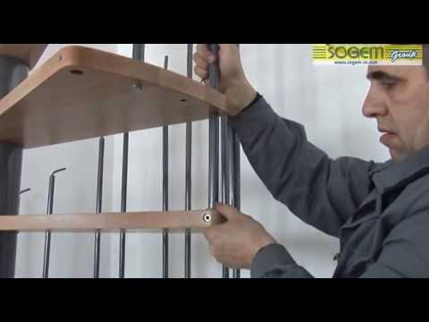 montage d 39 un escalier h lico dal spirale en kit calypso youtube. Black Bedroom Furniture Sets. Home Design Ideas