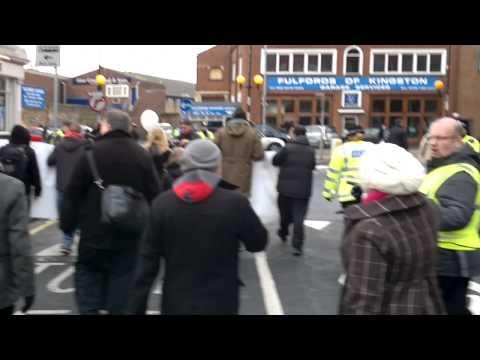 CWU POSTAL PROTEST ARRIVES IN KINGSTON