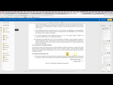 MOVING IN STATUS - Send Lease Through Docusign
