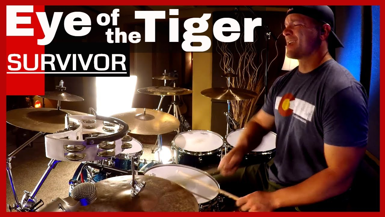Eye Of The Tiger Drum Cover Survivor High Quality Audio Youtube