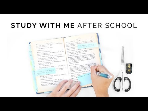 Study With Me: After School Study Routine