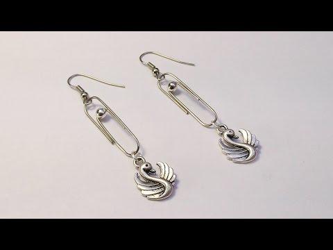 DIY Оригинальные серёжки из скрепок своими руками. Мастер класс.  Earrings from Staples