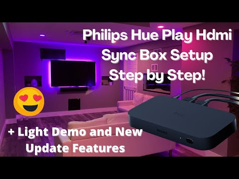 Philips Hue Play Hdmi Sync Box Setup: Hue Sync App, Light Demo, Google Assistant and Tv Remote Setup