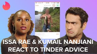 Issa Rae & Kumail Nanjiani React To Tinder Advice From The Internet