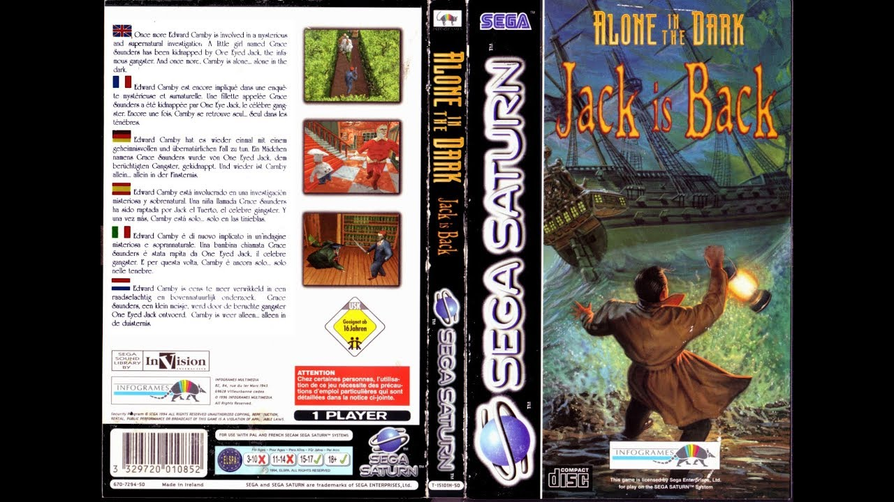 Sega Saturn Alone In The Dark Jack Is Back Game Play Youtube