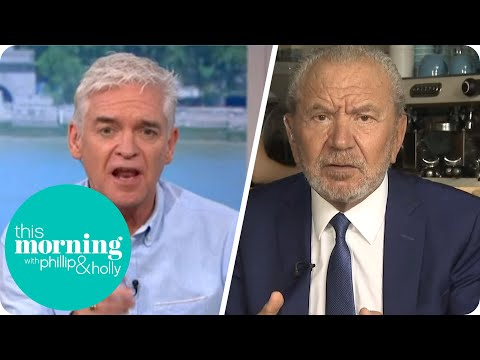 Lord Sugar Clashes With Phillip Over COVID News Coverage | This Morning