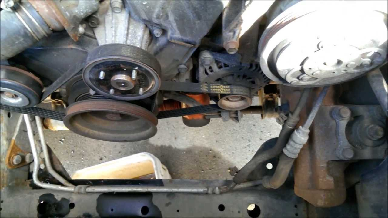timing belt and water pump replacement, Nissan frontier
