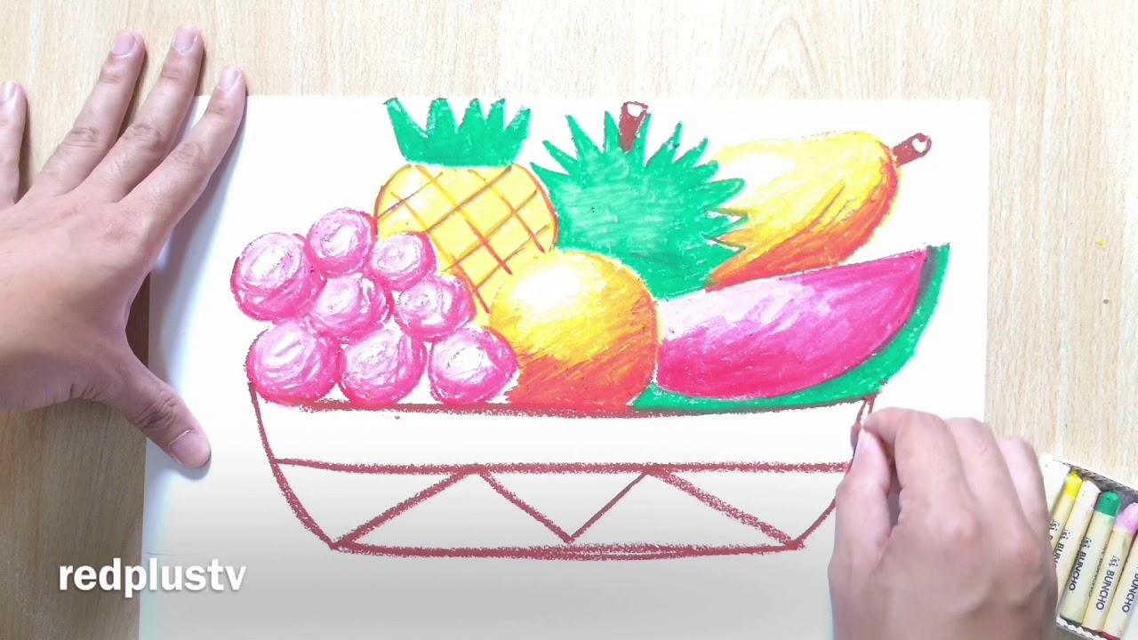 Lukisan Buah Buahan Tempatan Dengan Oil Pastel Krayon PPT Dan PAT Tahap 1 & 2 Pendidikan Seni Visual
