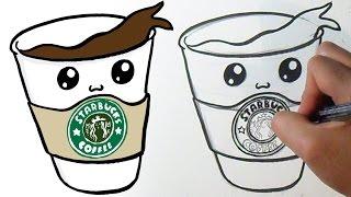 Cómo dibujar Café Starbucks Kawaii