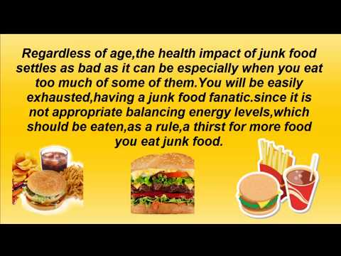 Junk food | Healthy or not | About health