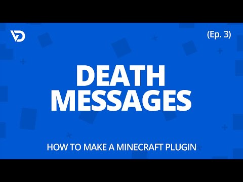 How To Make A Minecraft Plugin | Death Messages (Ep. 3)