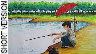 How to Draw Fishing [SHORT VERSION]