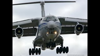 """Тяжёлый"" взлёт Ил-76МД Аэропорт Владивосток."