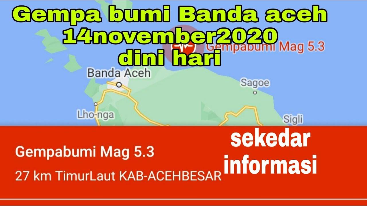 Gempa Bumi Aceh 14 Nov 2020 Youtube