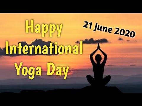 Happy International Yoga Day International Yoga Day Wishes Whatsapp Facebook Status Wallpaper Youtube