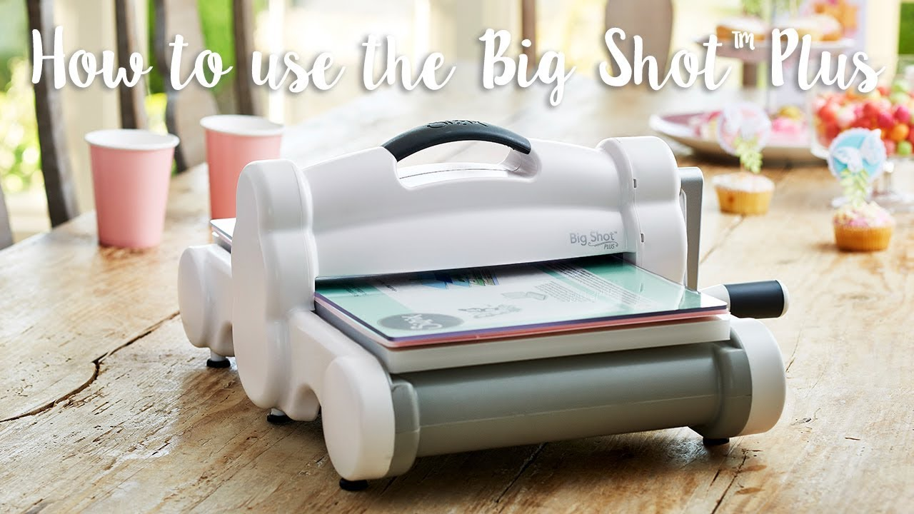 how to use the big shot plus machine youtube. Black Bedroom Furniture Sets. Home Design Ideas