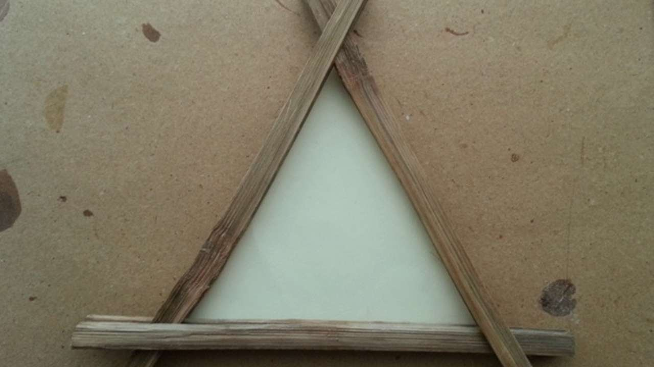 How To Make A Simple Triangle Wooden Frame - DIY Home Tutorial ...