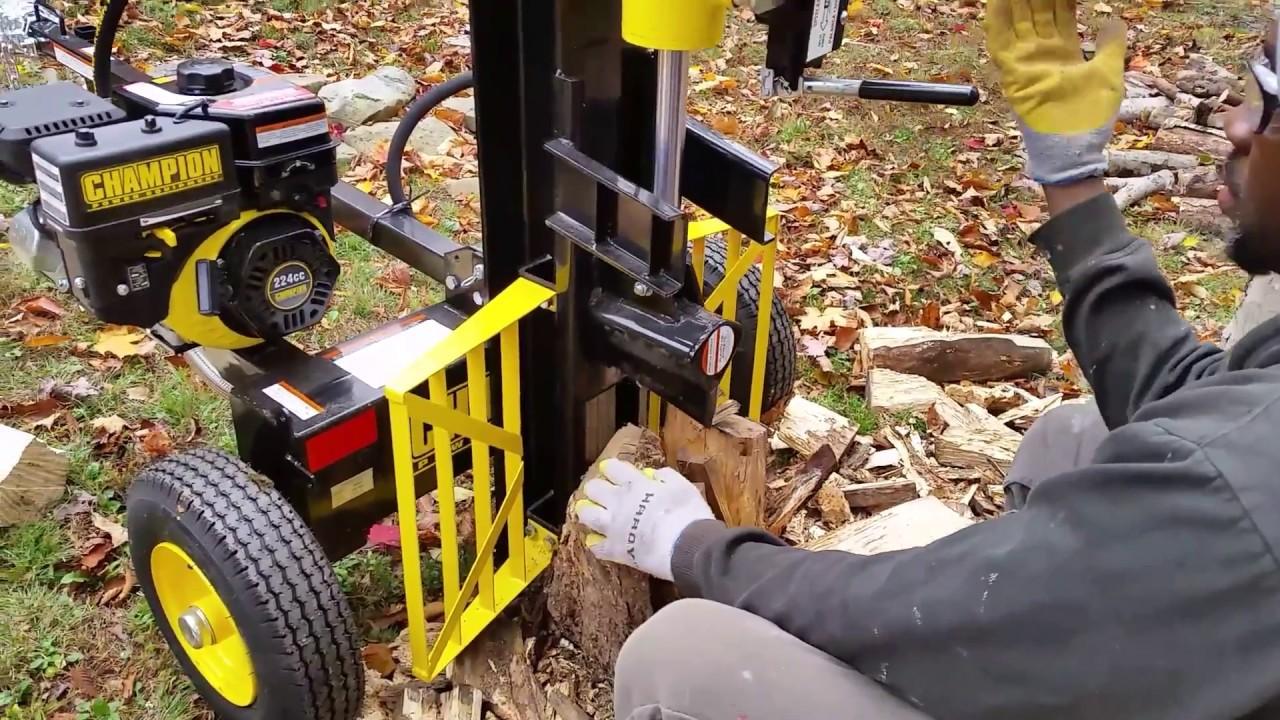 Champion 25 ton log splitter test! Review