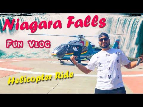 Niagara Falls | Helicopter Ride | Mist Boat Ride | 4K Canada | Vlog