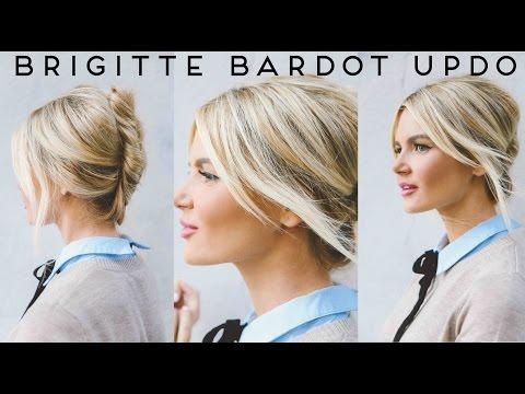 TUTORIAL | Easy, Undone Brigitte Bardot Updo