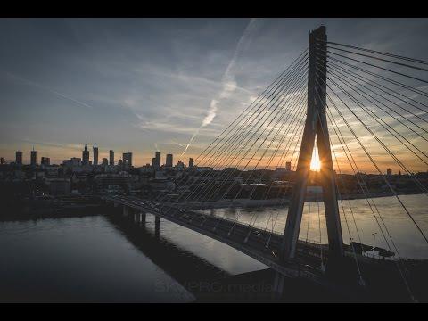 Warszawa 4K z drona - Most Świętokrzyski