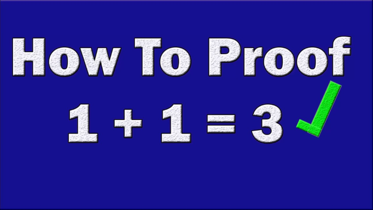 How To Proof 1 3