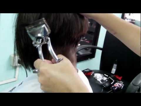 Extreme bob cut at the Barbershop | Doovi