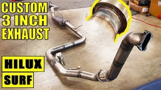 FULL CUSTOM 3 INCH HILUX SURF EXHAUST BUILD (WITH CUT OUT VALVE!)