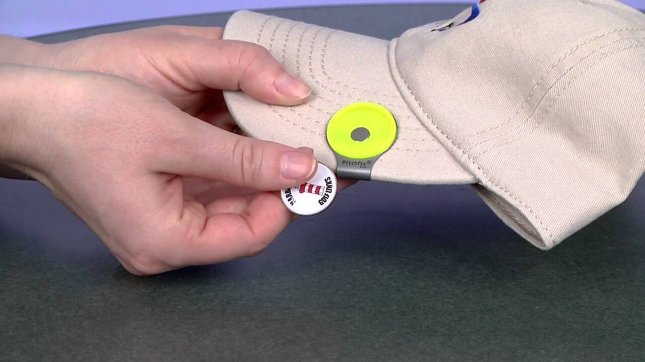 GOLF Ball Marker Hat Clips