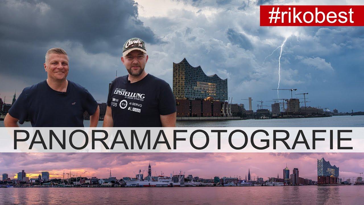Panorama Fotografie im Sonnenuntergang, Panoramafoto in Hamburg trotz Gewitter mit Olli von Duke Box