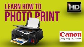 how to  print photo in canon pixma G1010 printer || Print test