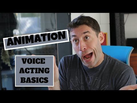 Animation Voice Acting Basics - How To Be a Voice Actor