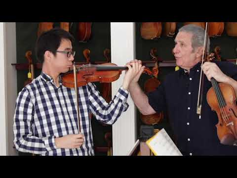 The Violin in 5ths - a lesson with Prof Rodney Friend