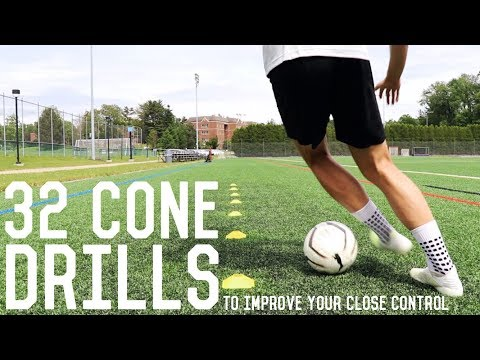 32 Close Control Dribbling Cone Drills | Improve Your Close Control Dribbling
