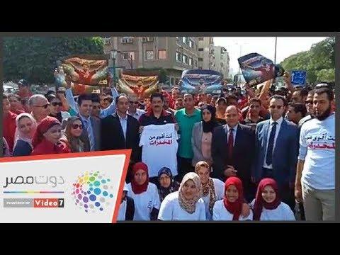 محافظ القليوبية يطلق شارة البدء لماراثون اختراق ضاحية  - 11:54-2018 / 10 / 22