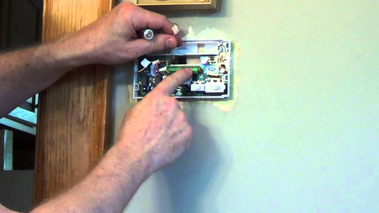 How To Install A Thermostat White Rodgers Youtube Wiring Diagram Room