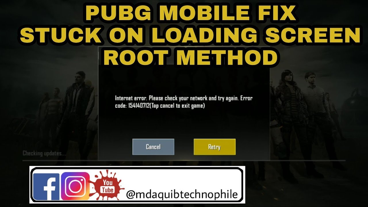 PUBG MOBILE FIX STUCK LOADING SCREEN ROOT