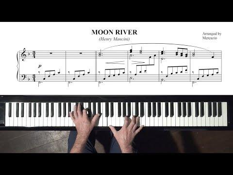 """""""Moon River"""" PIANO Solo & Slow Tutorial (arr. Mercuzio) P. Barton FEURICH piano."""