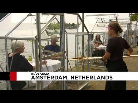 Hollanda'daki restoranlardan Covid-19'a karşı önlem: Açık havada kapalı mekan