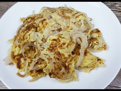 Fried Eggs With Onions (洋葱炒蛋)