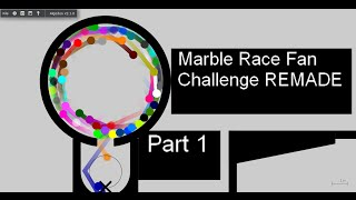 Marble Race Fan Challenge REMADE Part 1 (Ignore the Filmora text)